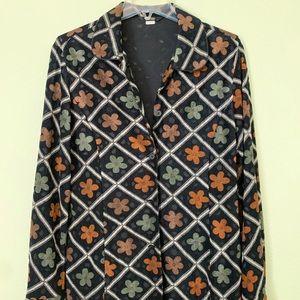 Flower patterned pantsuit